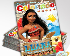 Revista de colorir Moana