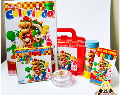 Kit Maleta Mario Bros com revista