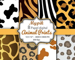 Kit Animal Papel Digital - Mod:3