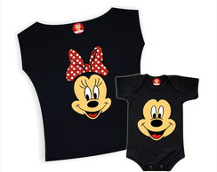 Kit Camisetas Mickey e Minnie - Dia das Mães