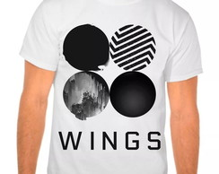 Camiseta Bts Wings Integrantes Branca