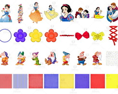 Kit 28 -Elem. Digitais -Branca de Neve