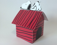 Caixa casa do snoopy