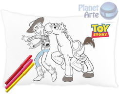 Almofada para colorir Toy Story c/caneti