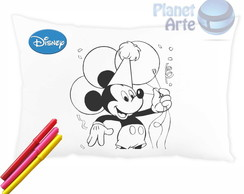 Almofada colorir Turma do Mickey c/canet