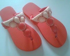 Chinelo similar havaianas customizada