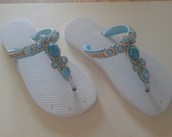 Chinelo similar havaianas customizado
