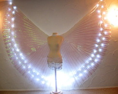 Wings LED Asa Dança do Ventre Branco
