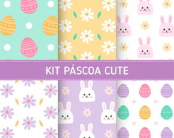 Kit Scrapbook Digital / Páscoa Cute