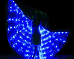 Wings LED Asa Dança do Ventre Azul