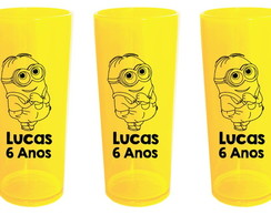 Copos Long Drink Festa Minions
