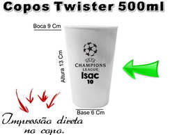 40 Copos Twister 500ml Champions League
