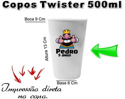 40 Copos Twister 500ml Clash Royale