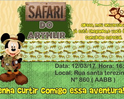 Convite Digital - Safari Do Mickey