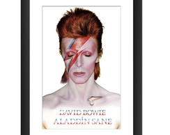Quadro David Bowie Pop Arte Glam Rock