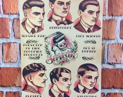 Quadro Decorativo de MDF Barber Shop