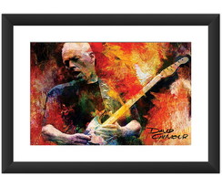 Quadro David Gilmour Pink Floyd Rock Art