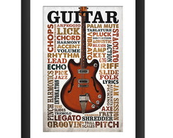 Quadro Guitarra Musica Rock Decoracao