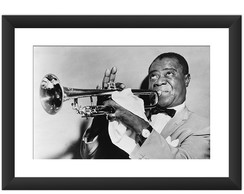 Quadro Jazz Retro Louis Armstrong Musica