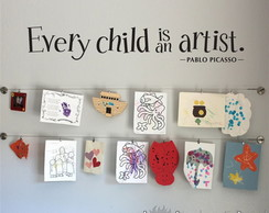 Adesivo Frase Every Child is an Artist