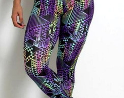 Calça legging colorida