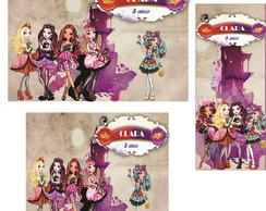 Rótulo para Kit Pipoca Ever After High