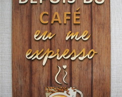 Placa Decorativa - Café Expresso