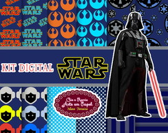 Kit Digital Star Wars azul