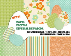 Papel Digital Especial PÁSCOA KIT 01