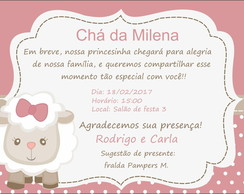 Convite Ovelhinha Elo7
