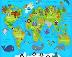 Adesivo Mapa Mundo | Elo7