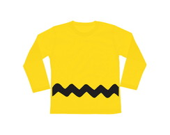 Camiseta INFANTIL Charlie Brown FRENTE e COSTAS Longa