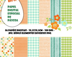 Papel Digital Especial PÁSCOA KIT 02