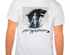 Camiseta Branca Arya Stark Game Thrones