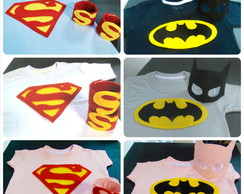 Camisas Superman e Batman