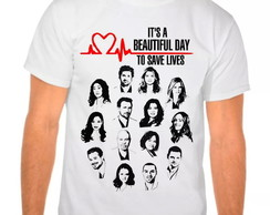 Camiseta Branca Grey's Anatomy Beautiful