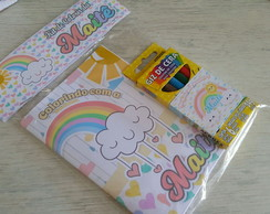 Mini kit de colorir Chovendo amor