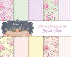 Papel Digital Floral Candy color