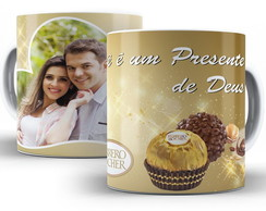 Caneca Porcelana - Chocolate.