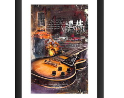Quadro Guitarra Rock Blues Music Whisky