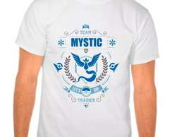 Camiseta Branca Pokemon Go Team Mystic