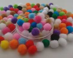 100 Mini Pompom FRETE GRATIS pompons colors 8 mm mini 0.8cm