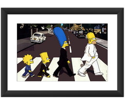 Quadro Simpson Abbey Road Beatle Rock