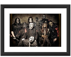 Quadro Slipknot Banda Rock Hard Metal