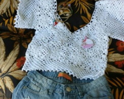 TOP RENDA CROCHE