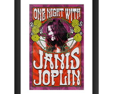 Quadro Janis Joplin Bandas Rock Blues