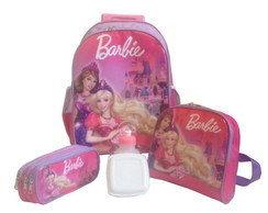 Kit Mochila Barbie Princesa + Lancheira