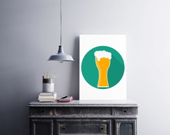 "Placa decorativa ""Beer (cerveja)"""