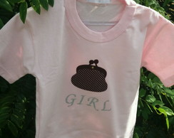 Camiseta Infantil bolsa fashion