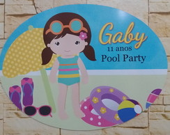 Placa Pvc Pool Party